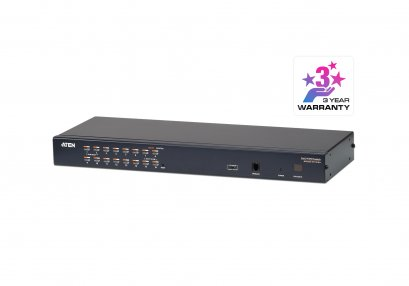 KH1516A 16-Port Multi-Interface ( DisplayPort, HDMI, DVI, VGA) Cat 5 KVM Switch
