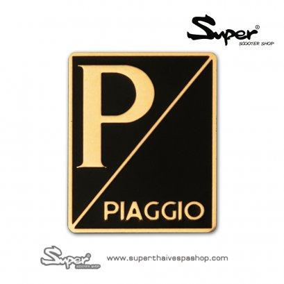THE SILVER VESPA PIAGGIO EMBLEM