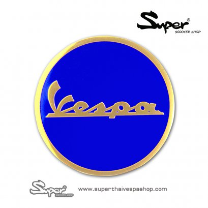 THE GOLD BLUE VESPA EMBLEM