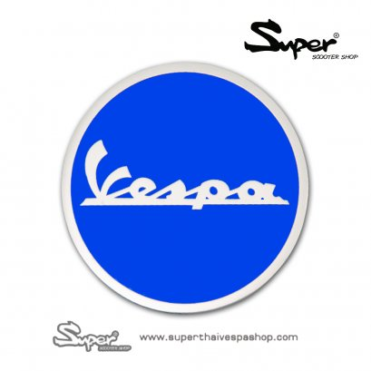 THE SILVER BLUE VESPA EMBLEM