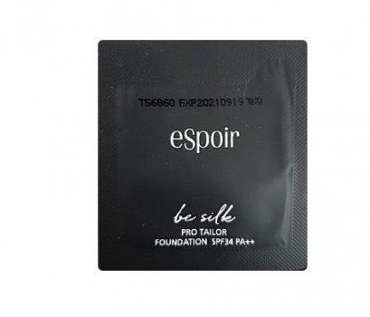 espoir be silk Pro tailor foundation SPF34PA++  1mlx2ea