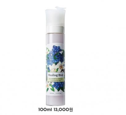 Healing Bird Blueberry & Vanilla essencial hair mist 100ml