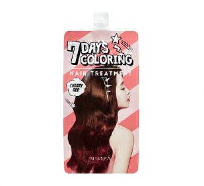 Missha 7Days coloring hair treatment #Cherry Red