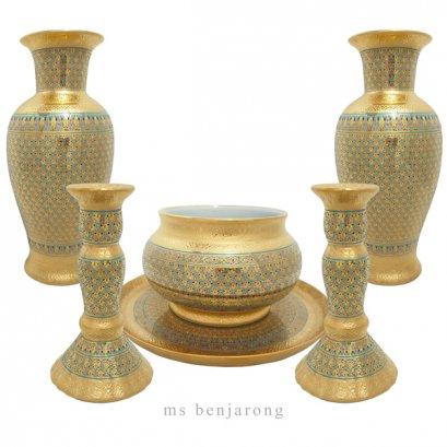 Buddha Set | Benjarong | Gold
