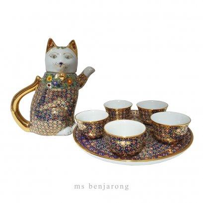 Cat Tea Set | ชุดกาน้ำชาแมว