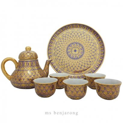 Chompo Tea Set | Benjarong