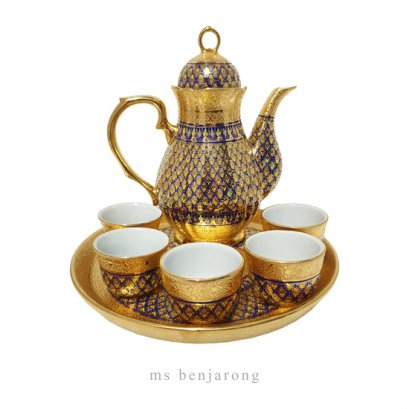 Fat Tea Set Benjarong | Gold