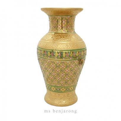 "Vase 6"" | Benjarong | Gold"