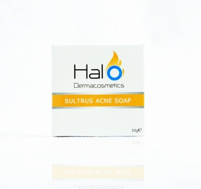Halo Dermacosmetic Sultrus Acne Soap สบู่ทำความสะอาดผิวหน้า ลดสิว ฮาโล 50 กรัม
