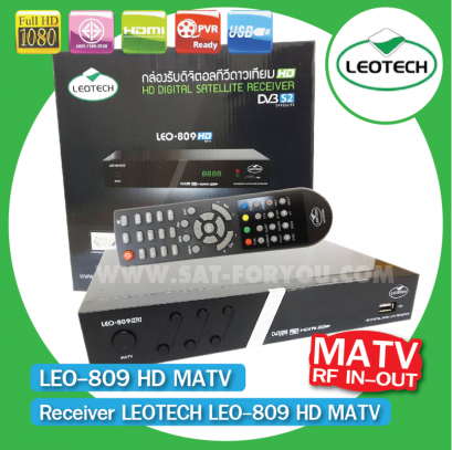 Receiver LEOTECH LEO-809 HD MATV