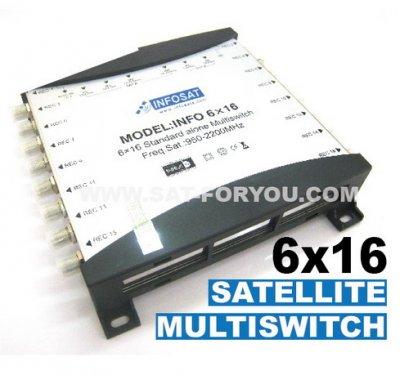 Multi Switch 6x16 INFOSAT (เข้า6ออก16)