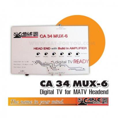 ชุดงานระบบดิจิตอลทีวี CABLE 6 MUX CH.