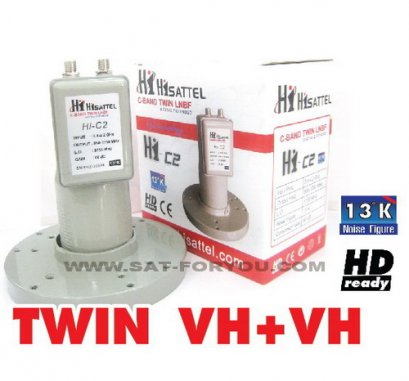 LNB-C BAND HISATTEL C2  TWIN