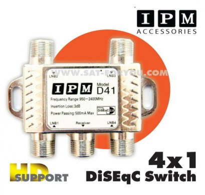 DiSEqC Switch 4x1 IPM HD support