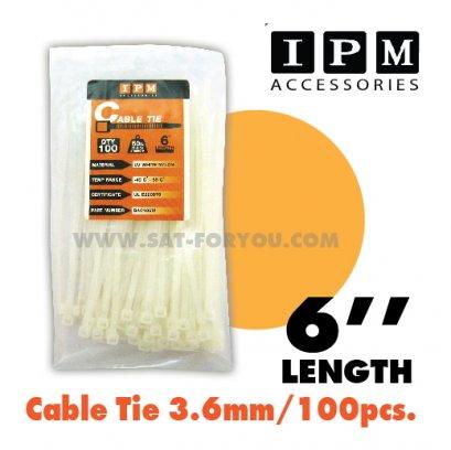 Nylon Cable Tie IPM สีขาว ยาว6นิ้ว