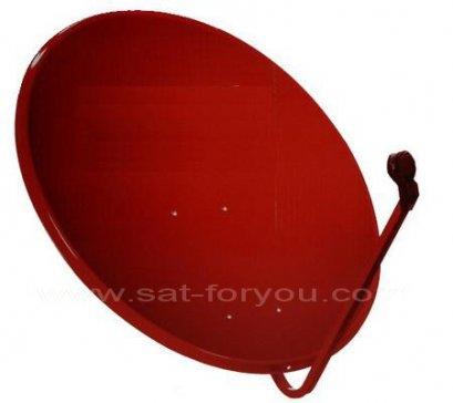 หน้าจานดาวเทียม (สีแดง) 75 ซม. ของใหม่