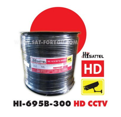 สายRG6 HISATTEL 95%300ม. สีดำ HD
