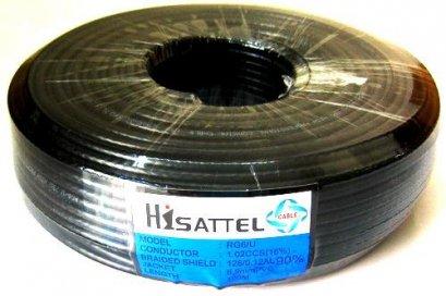 สายRG6 HISATTEL 90% 100ม. สีดำ