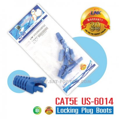 CAT5E Locking Plug Boots LINK สีฟ้า