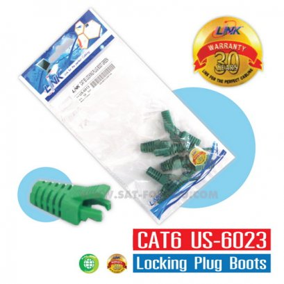 CAT6 Locking Plug Boots LINK สีเขียว