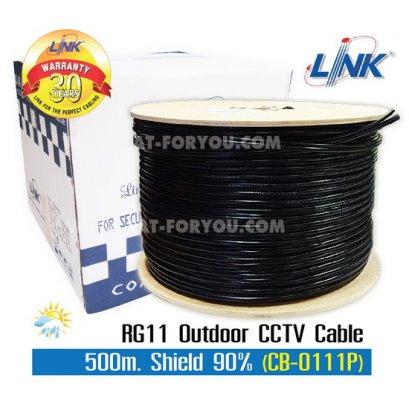 สายRG11 LINK 90% 500ม. สีดำ Outdoor