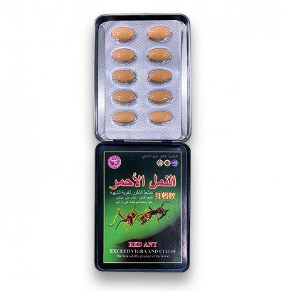 ยา Red Ant Viagra ยามดแดง กล่องเหล็ก บรรจุ 10 เม็ด