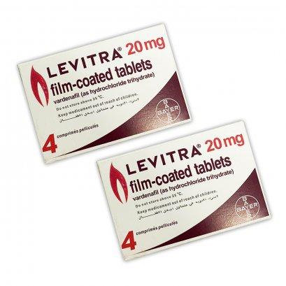ยา LEVITRA 20 mg. BAYER ยาเลวิตร้า 20 มิลลิกรัม 1 กล่องมี 4 เม็ด