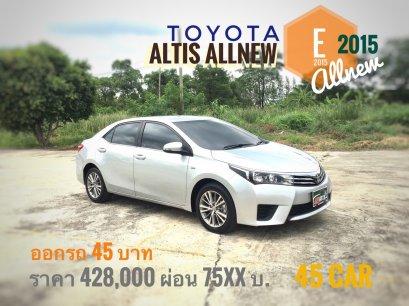 Toyota Altis Allnew 1.8 E 2015 A/T