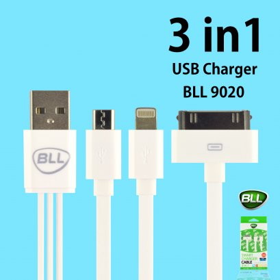 USB Charger Cable 3in1 BLL9020