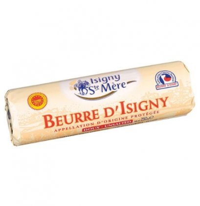 BUTTER AOP UNSALTED 250 g-ROLL: ISIGNY