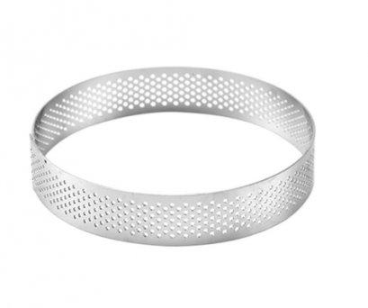 SN3163 10 cm Perforated Tart Ring 100x20 mm
