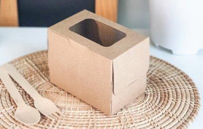 AG-A5-000 กล่องเค้ก 1 ชั้น คราฟท์ 7.5x11.5x9(H)@20