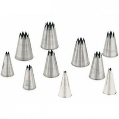 830 Ateco 10 PC STAR TUBE SET S/S
