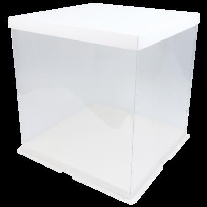 AA-H1-005 กล่องใส 2 ปอนด์ ขาว 25.5x25.5x35(H) cm