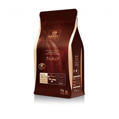 ไวท์ช็อกโกแลต (Zephyr) 34% ตรา Cacao Barry  5 kg