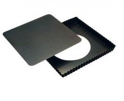 A210 พิมพ์พาย สี่เหลี่ยมจตุรัส ถอดก้น Non-Stick 21*21 cm