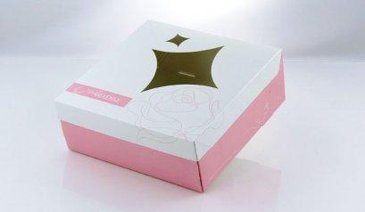 6010A Cake Box: Pink-White Paradise 21*21*8(H) cm