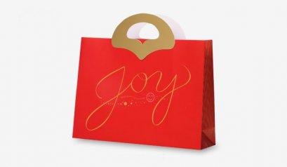 C220609-1 Paper bag with Joy design 32 * 8 * 23 (H) cm @ 10