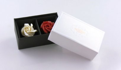 C70205C Box: White Prosperity 2 Holes: DIA: 12.2x6.9x5 cm