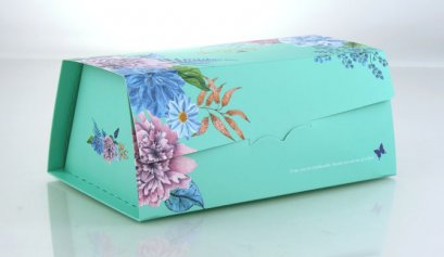 F401A กล่อง ฟ้า ลาย Love Comes Softly 19.8x12.5x9 cm