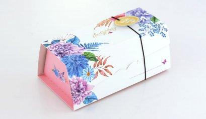 F401B กล่อง ชมพู ลาย Love Comes Softly 19.8x12.5x9 cm
