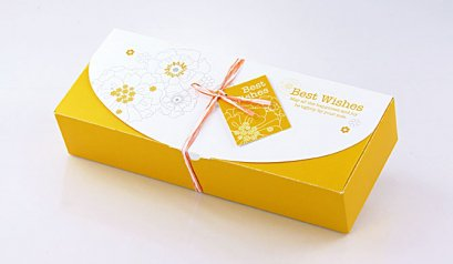 H103C Cake Box: Yellow Best Wish 11.5x28.5x5.5(H) cm