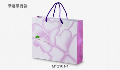 M12101-1 Paper Bag: Hope Faith Love Happiness 32*8*26 cm@10