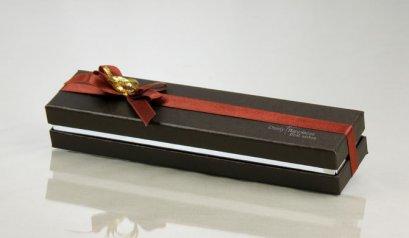 Y-023-2 กล่องน้ำตาล ลาย Dainty Happiness 6 ช่อง 25x4x4cm