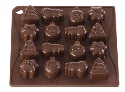 CHOCO02 Pavoni BROWN CHOCO PRALINES: CHRISTMAS