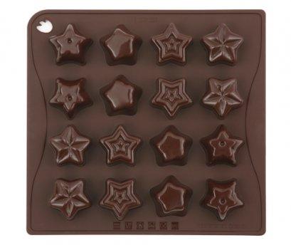 CHOCO04 Pavoni BROWN CHOCO PRALINES: STAR