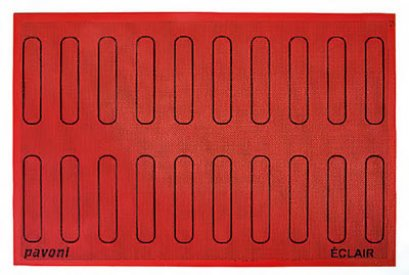 ECL20 Large Eclair Silicon Baking Mat PAVONI MAT 585X385 MM: MICROPERFORATED PADS