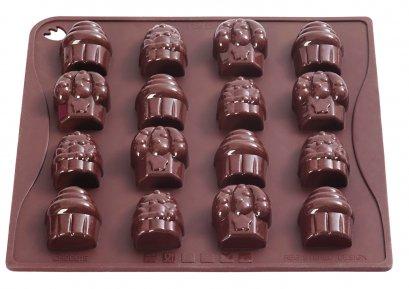CHOCO15 Pavoni BROWN CHOCO PRALINES: CUPCAKE