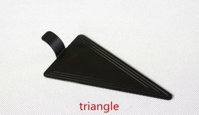 BG-118 แผ่นรองเค้กสามเหลี่ยม พลาสติก ดำ 7.8*11.8 cm@100