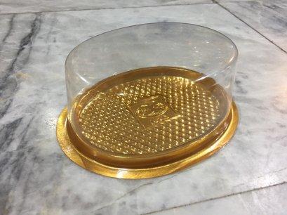 B042 พลาสติก วงรี ฐานทอง DIA: 140x110x50 mm@50